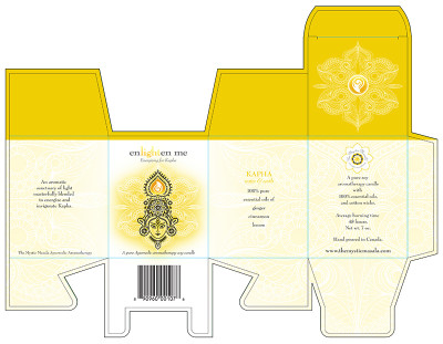 "Energizing for Kapha ""enlighten me"" Candle Box"