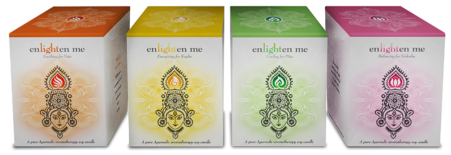 """enlighten me"" Candle Boxes"