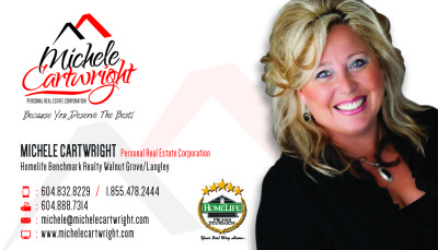 Michele Cartwright Business Card - Front