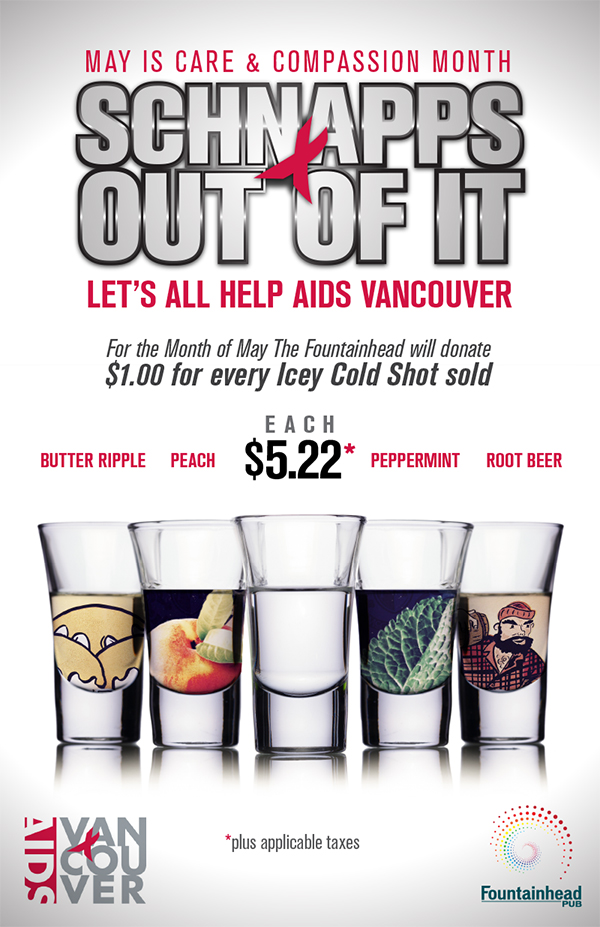 AIDS Vancouver Fundraiser - Schnapps Out Of It