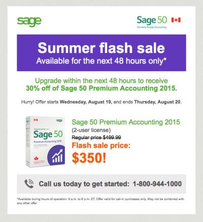 Sage 50 August Promo Email - Premiuml