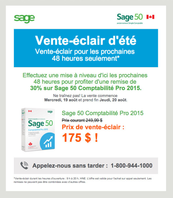 Sage 50 August Promo Email - Pro FrenchR