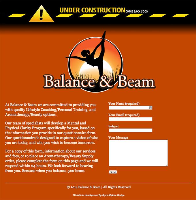 Balance & Beam - Under Construction