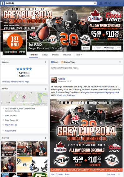 CFL - Grey Cup 2014 - Facebook Banners