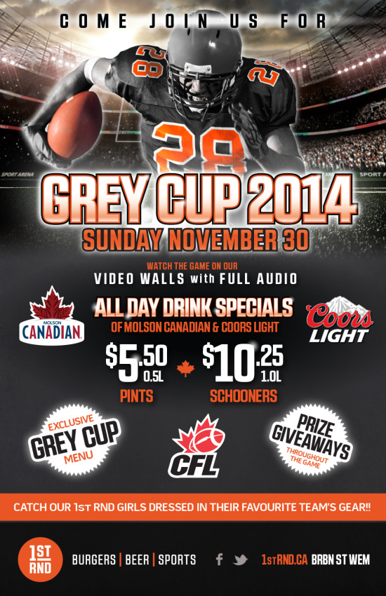 CFL - Grey Cup 2014 - 11x17 Poster