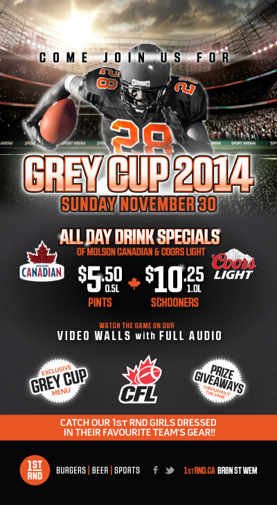 CFL - Grey Cup 2014 - Tabletop Sign