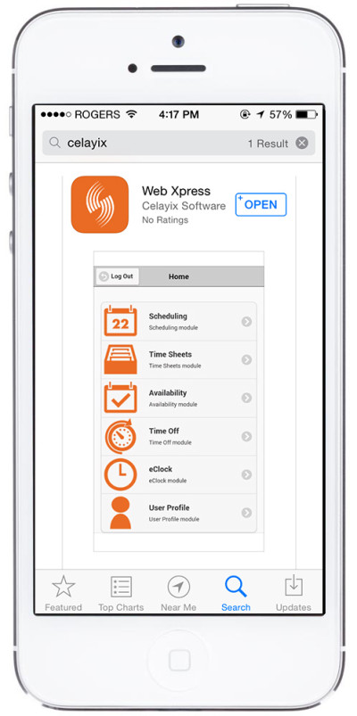 Celayix WebXpress - App Store iPhone