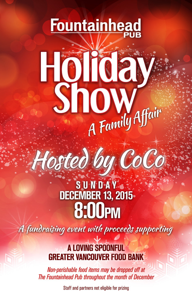 The Fountainhead Pub Holiday Show Poster