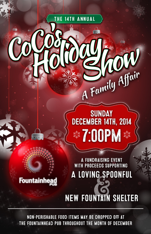 The Fountainhead Pub's 14th Annual Coco's Holiday Show poster