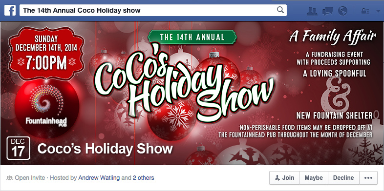 CoCo's Holiday Show - Facebook Event Cover Photo