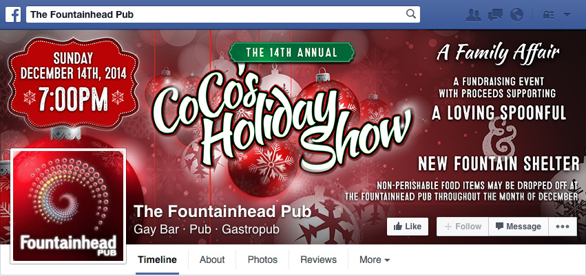 CoCo's Holiday Show - Facebook Profile Cover Photo