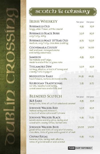 Dublin Crossing Surrey - Fall 2016 Drink Menu - Page 6