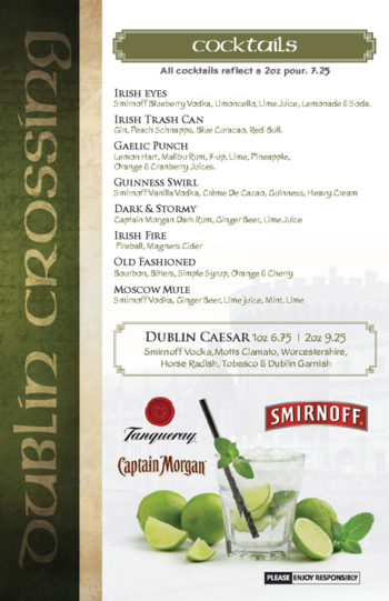 Dublin Crossing Surrey - Fall 2016 Drink Menu - Page 8