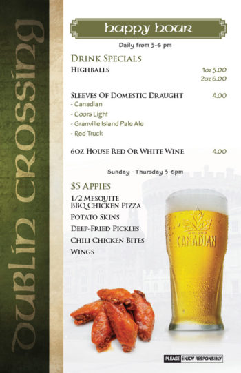 Dublin Crossing Surrey - Fall 2016 Drink Menu - Page 10