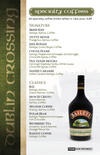 Dublin Crossing Surrey - Fall 2016 Drink Menu - Page 11