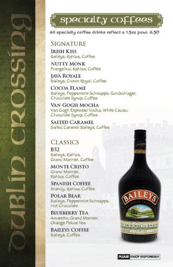 Dublin Crossing Surrey - Fall 2016 Drink Menu - Page 11