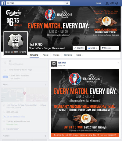 Euro 2016 Facebook Graphics