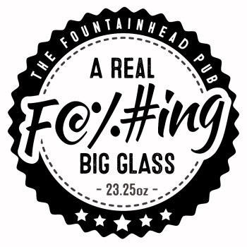 A Real F@%#ing Big Glass Logo