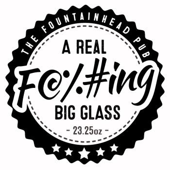 A Real F@%#ing Big Glass Logo