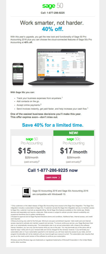 Sage 50c Upgrade February Promo - Email 3