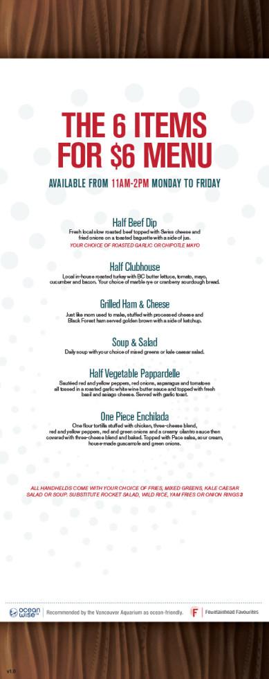 The Fountainhead Pub - Food Menu 4