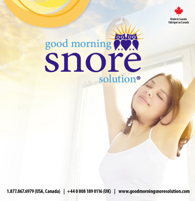 Good Morning Snore Solution Insert - Front