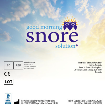 Good Morning Snore Solution Insert - Back