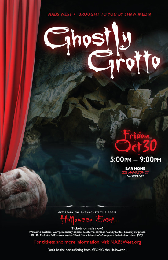 NABS Ghostly Grotto Poster - 11x17