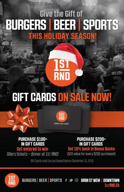 1st RND Gift Card Promo Poster