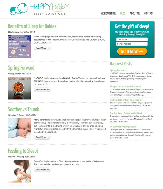 HappyBaby Sleep Solutions - Blog