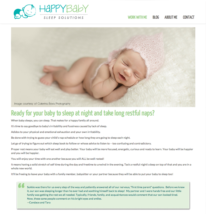 HappyBaby Sleep Solutions - Work With Me
