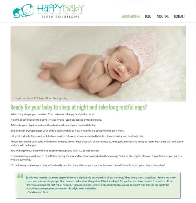 HappyBaby Sleep Solutions - Work With Me