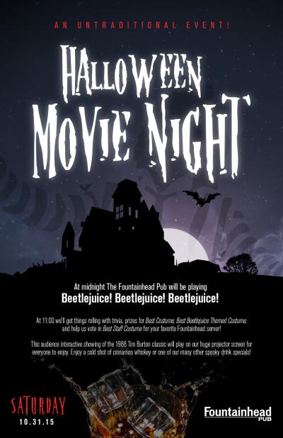 Halloween Movie Night - 11x17 Poster