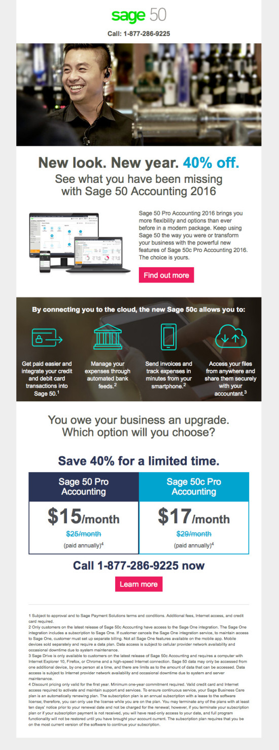 Sage 50c Upgrade Campaign - January Promo - Email 1