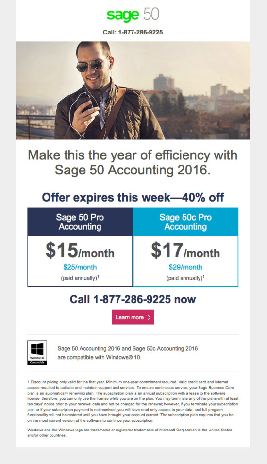 Sage 50c Upgrade Campaign - January Promo - Email 4