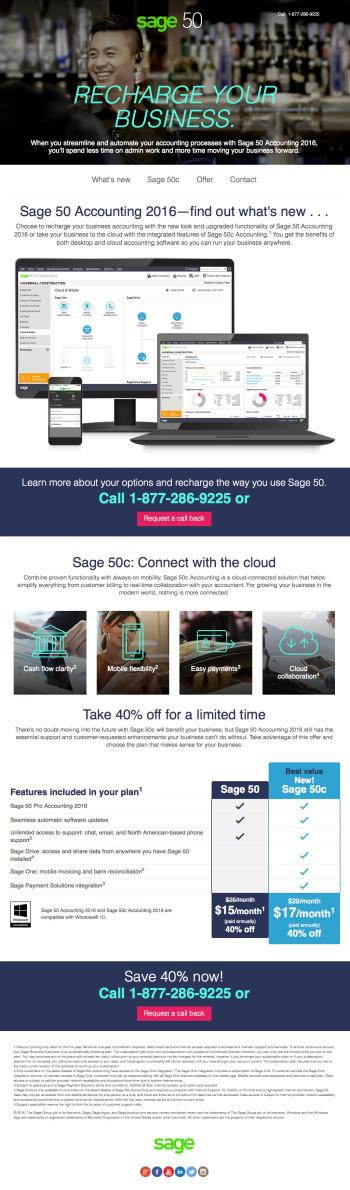 Sage 50c Upgrade Landing Page - January Promo