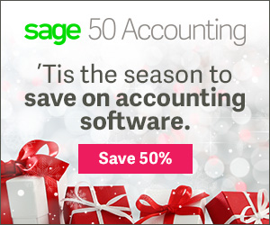 Sage50 Canada Holiday Offer Display Ad 300x250 EN