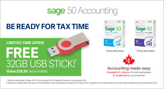 Sage 50 Accounting Ad - Staples Flyer (2S EN)