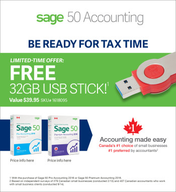 Sage 50 Accounting Ad - Staples Flyer (4S EN)