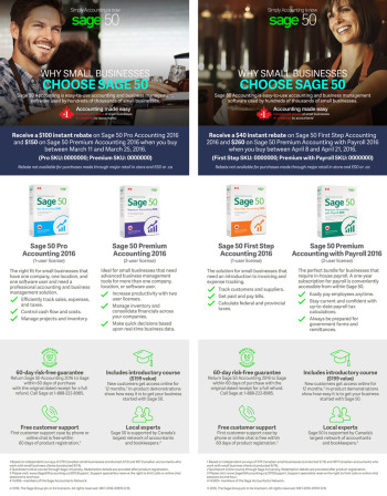 Sage 50 Synnex Email Promo Offer Ads - EN