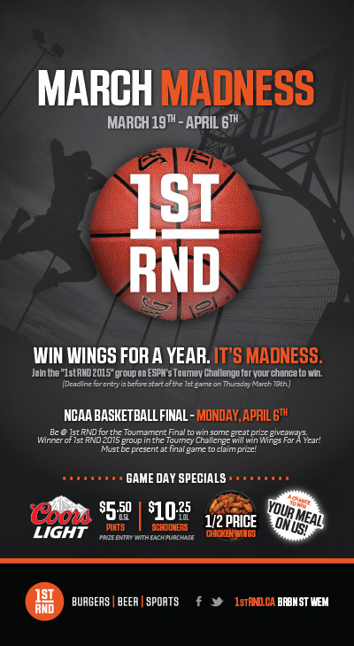 March Madness 2015 Tabletop SIgn