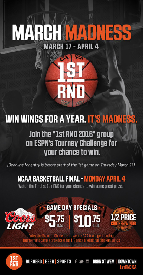 1st RND March Madness 2016 MailChimp Email 600px