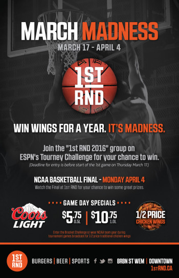 March Madness 2016 Poster 11x17