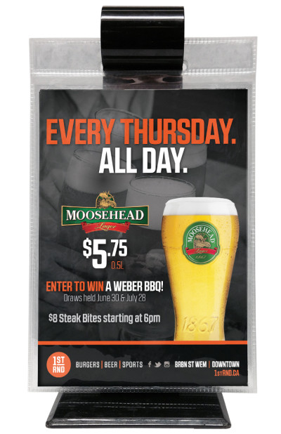 1st RND - Moosehead Lager Special - Table Topper