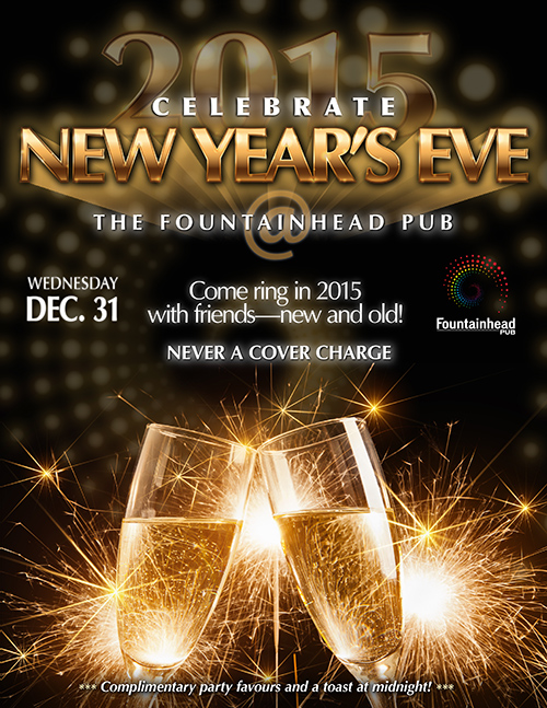 New Year's Eve @ The Fountainhead Pub - Poster