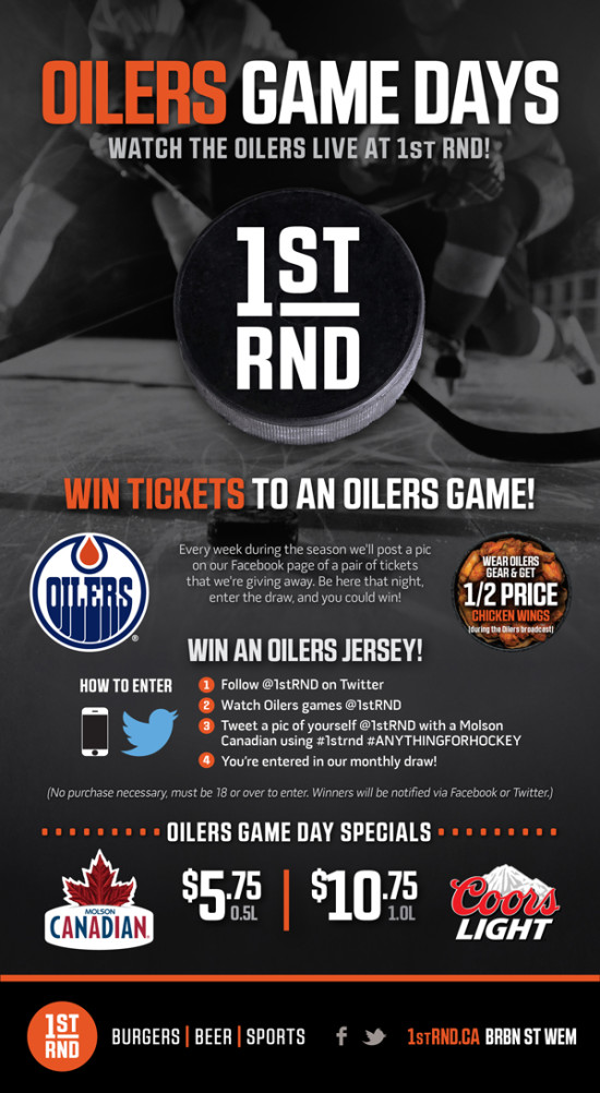 1st RND Oilers Game Days 2015 MailChimp Email 600px