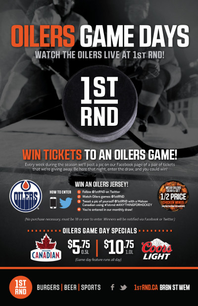 1st RND Oilers Game Days 2015 Poster