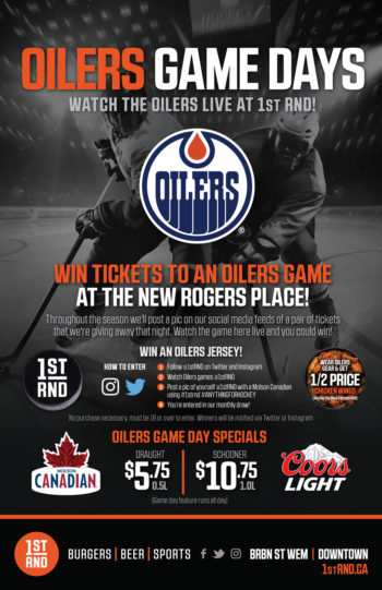 1st RND - Oilers Game Days 2016 Promo Poster