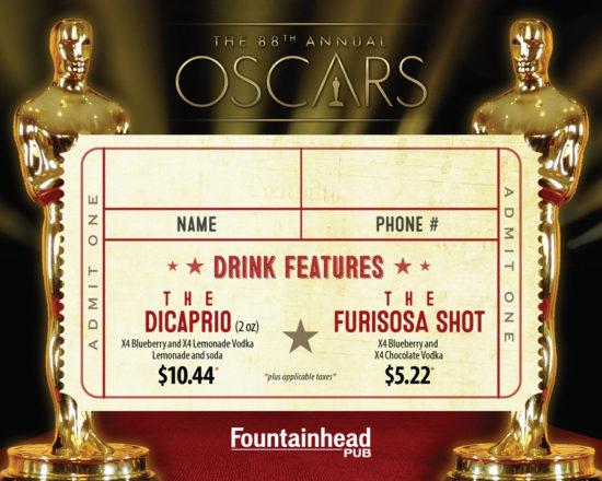 Oscars 2016 Card - Side 1