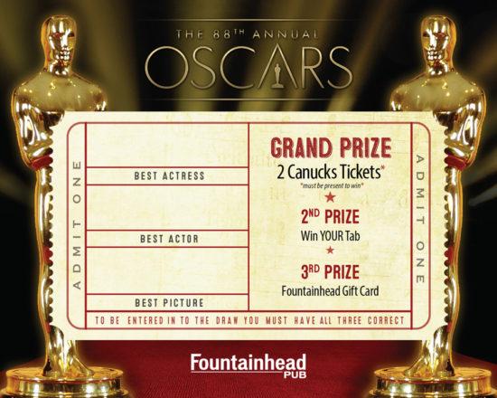 Oscars 2016 Card - Side 2